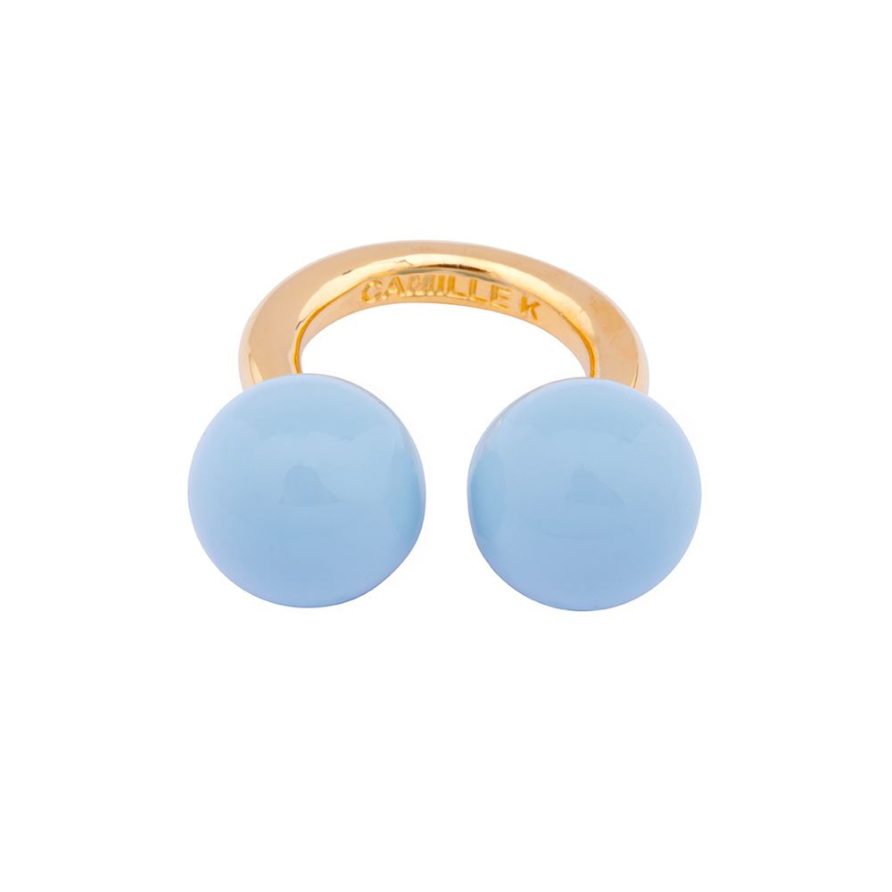 Picture of PANTONE AQUA PERLE RING