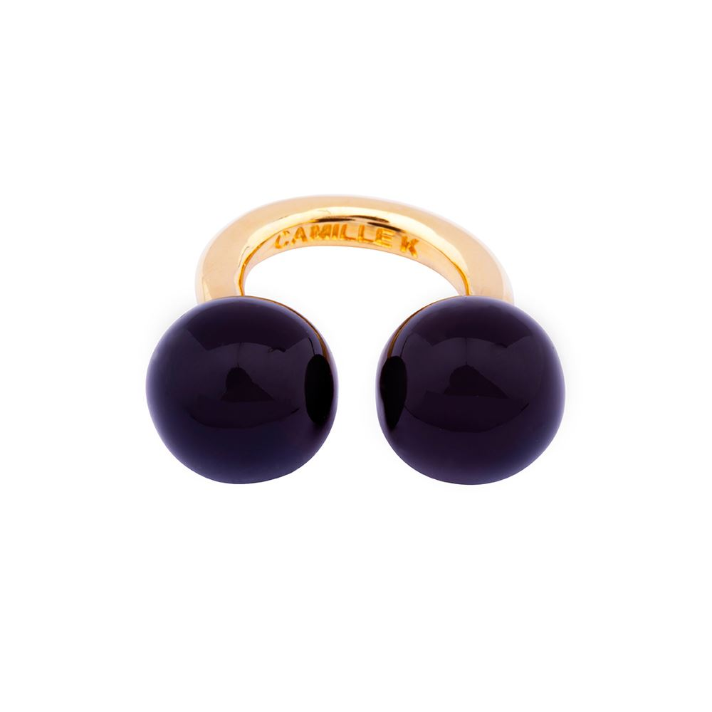 Picture of PANTONE BLACK PERLE RING