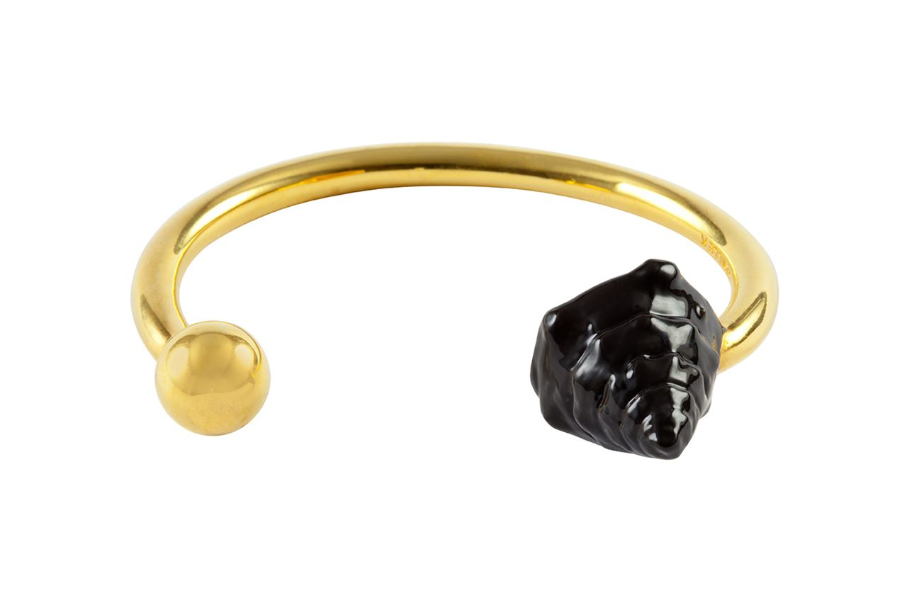 Picture of MIRAMAR BLACK ENAMEL SHELL AND PEARL CUFF