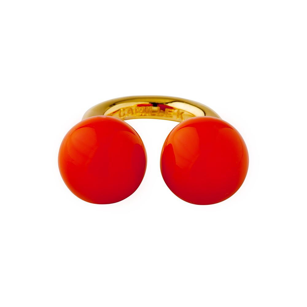 Picture of PANTONE ORANGE PERLE RING