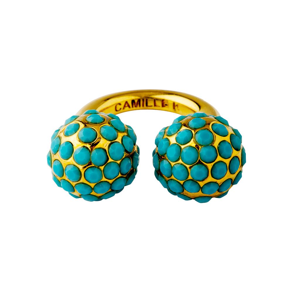 Picture of Signature Turquoise Pave Perle Ring