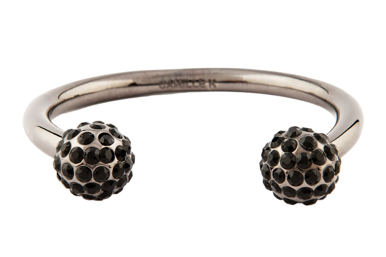 Picture of SIGNATURE JET PAVE PERLE CUFF